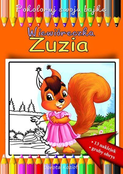Wiewióreczka Zuzia - kolorowanka