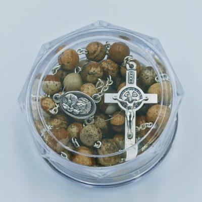Rózaniec z kamieni półszlachetnych (jaspis)