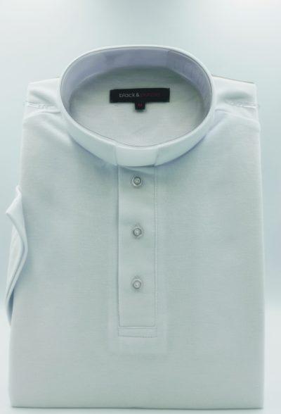 Koszulka polo pod koloratkę (biała)
