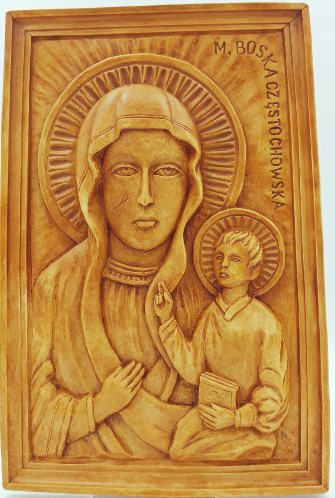 Matka Boża Częstochowska- relief