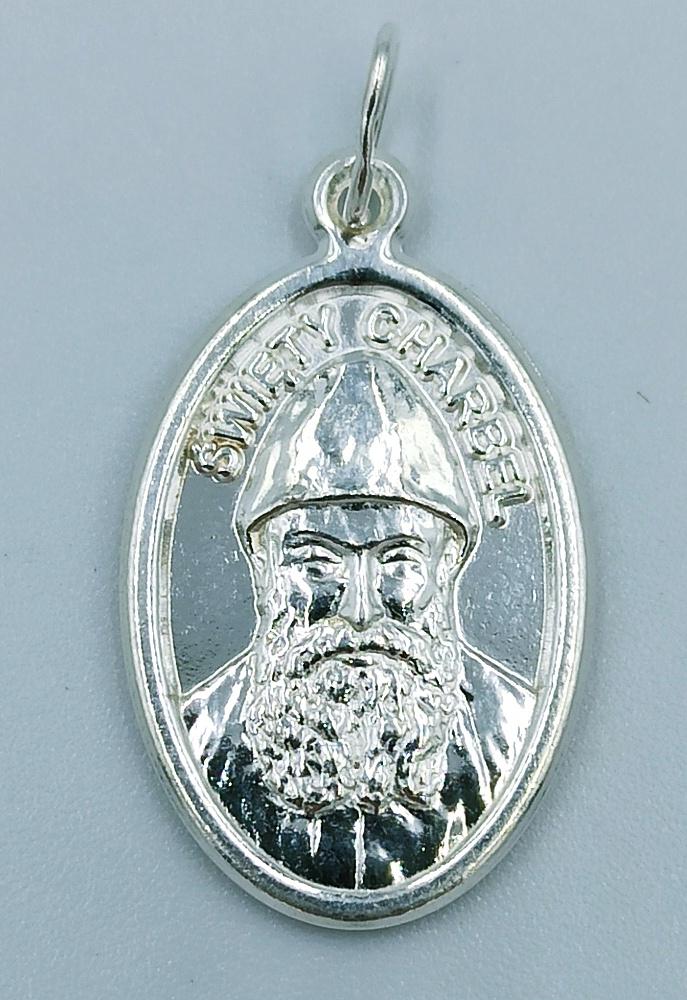 Medalik srebrny św. Charbel