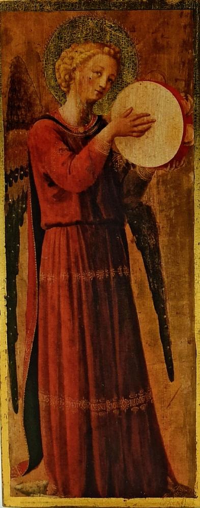 Ikona na drewnie - Anioł
