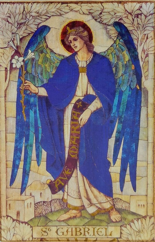 Ikona na drewnie - Gabriel Archanioł