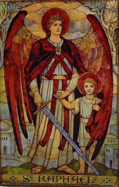 Ikona na drewnie - Rafał Archanioł