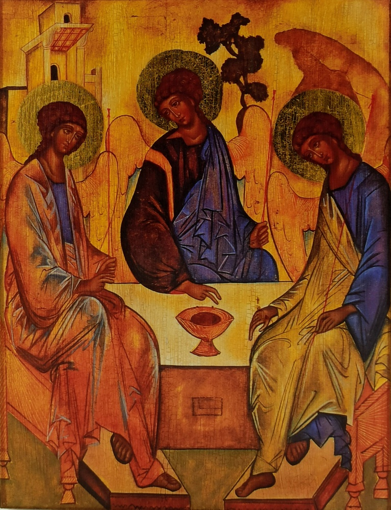 Ikona na drewnie - Trójca Święta Rublowa