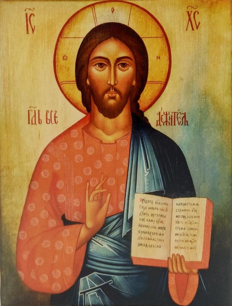 Ikona na drewnie - Jezus Pantokrator