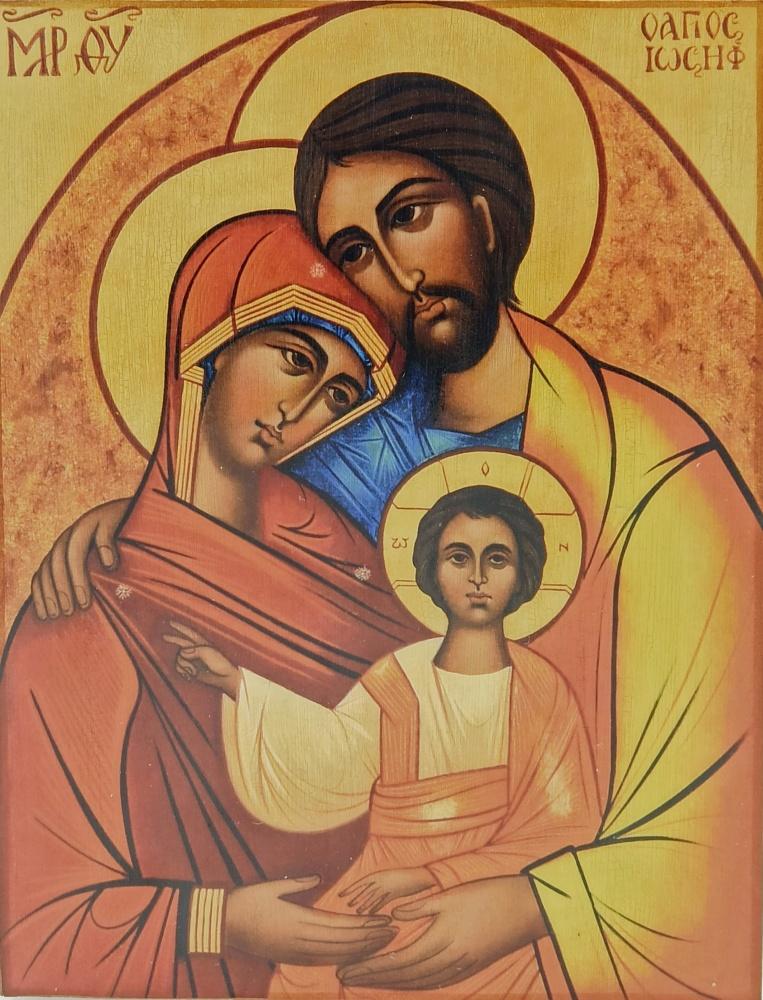 Ikona na drewnie - Święta Rodzina