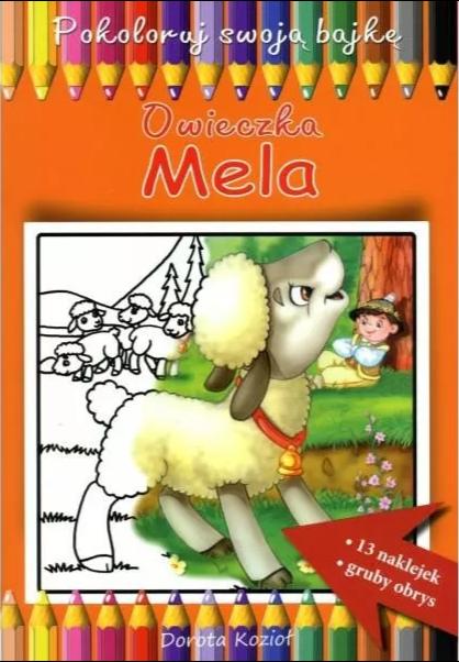 Owieczka Mela - kolorowanka