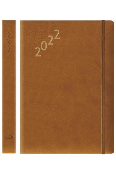 Terminarz 2022 FLEX (A5 z gumką) - brązowy