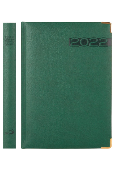 Terminarz 2022 LUX (A5 złocony) - zielony