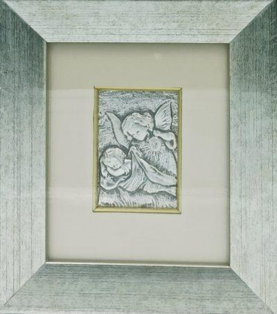 Obrazek srebrny - Anioł Stróż