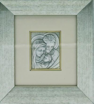 Obrazek srebrny - Święta Rodzina