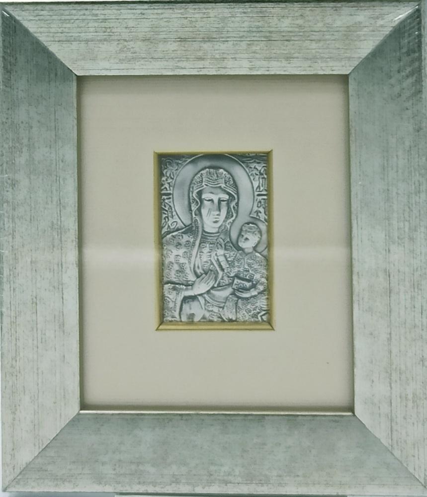Obrazek srebrny - Matka Boża Częstochowska