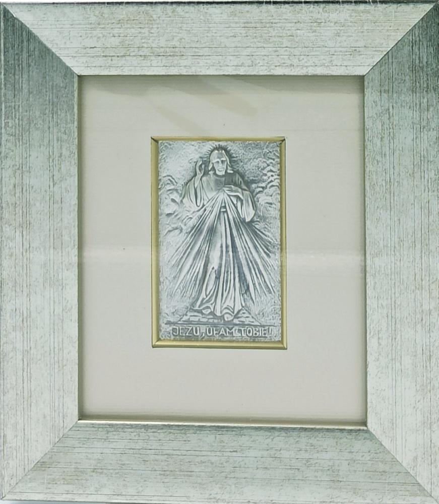Obrazek srebrny - Jezu Ufam Tobie