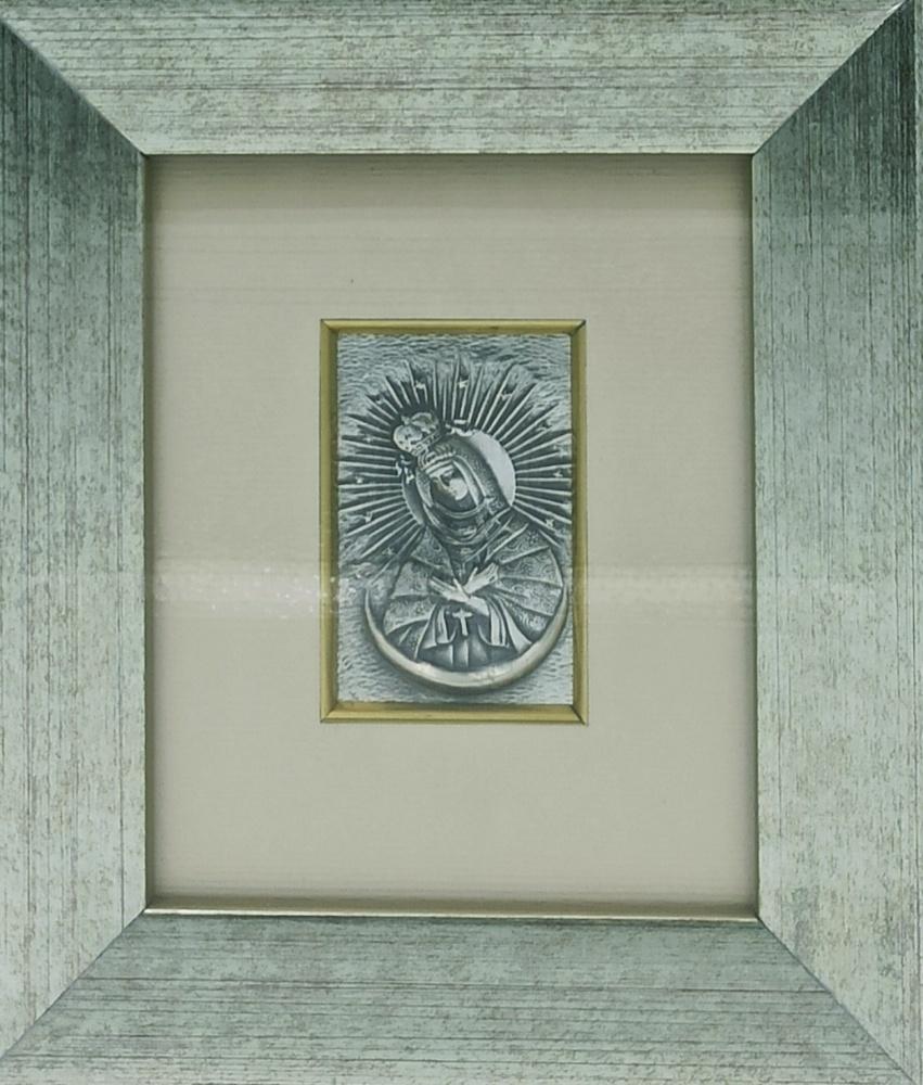 Obrazek srebrny - Matka Boża Ostrobramska