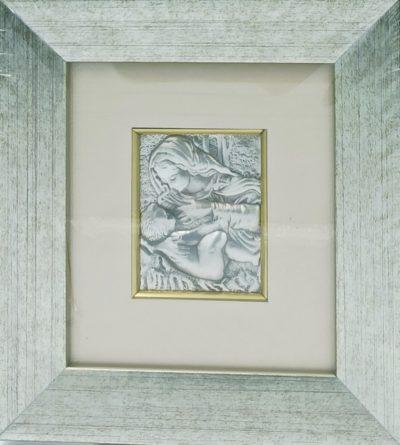 Obrazek srebrny - Matka Boża Karmiąca