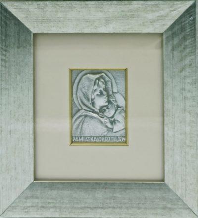 Obrazek srebrny - Matka Boża