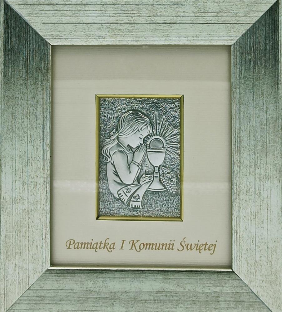 Obrazek srebrny - Pamiątka I Komunii