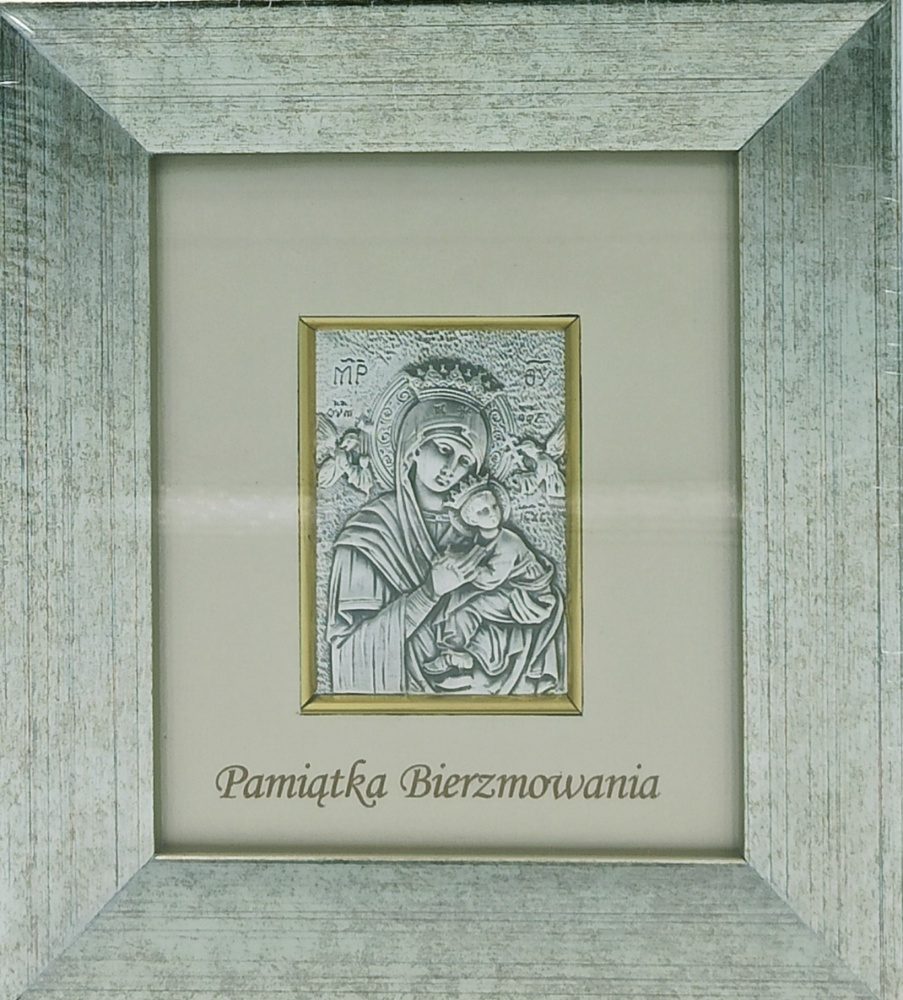 Obrazek srebrny - Matka Boża Nieustającej Pomocy