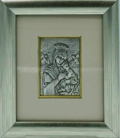 Obrazek srebrny Matka Boża Nieustającej Pomocy