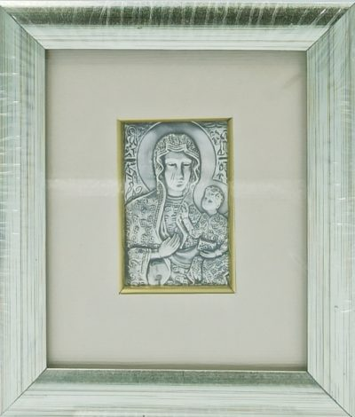 Obrazek srebrny Matka Boża Częstochowska