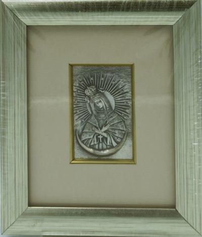 Obrazek srebrny Matka Boża Ostrobramska