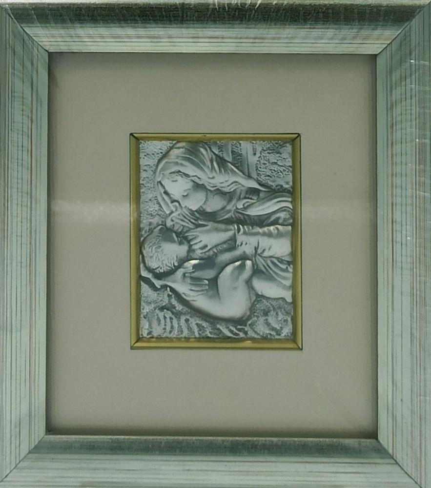Obrazek srebrny Matka Boża Karmiąca