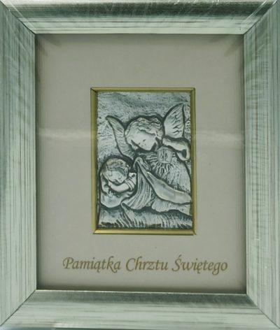 Obrazek srebrny Anioł Stróż