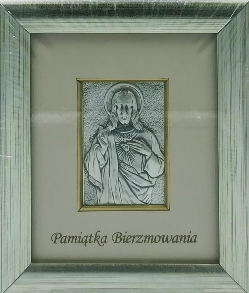 Obrazek srebrny Jezus